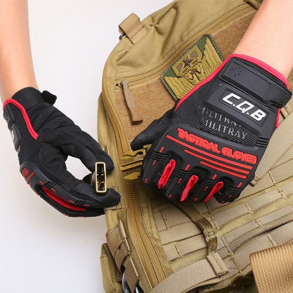 Outdoor waterproof hiking camping climbing gloves 4