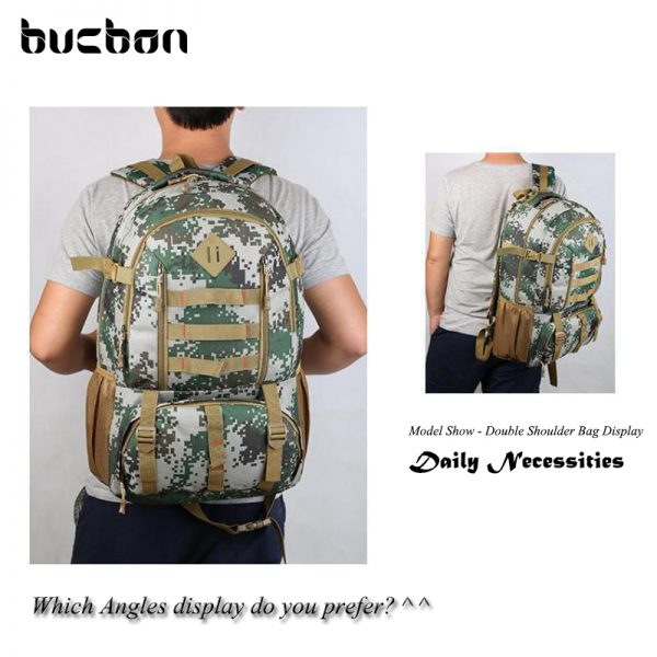 """Camo Tactical Backpack for Laptop 14"""" Military Army 50L 6"""