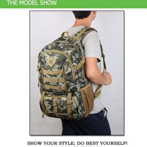"Camo Tactical Backpack for Laptop 14"" Military Army 50L"