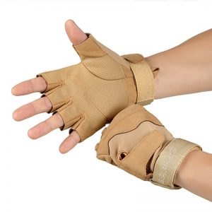 Tactical Fingerless Gloves Fitness Workout Gloves Military Army Shooting Bicycle Paintball Hard Knuckle Half Finger Mittens 1