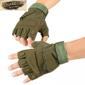 Tactical Fingerless Gloves Fitness Workout Gloves Military Army Shooting Bicycle Paintball Hard Knuckle Half Finger Mittens