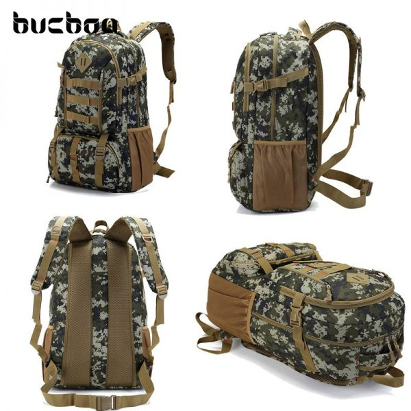 """Camo Tactical Backpack for Laptop 14"""" Military Army 50L 2"""