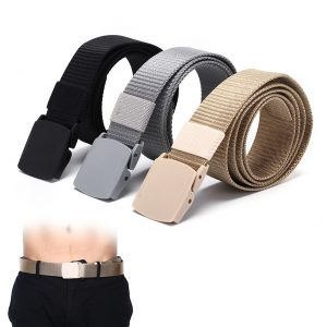 115CM Length Outdoor Military Tactical Belt with Plastic Buckle