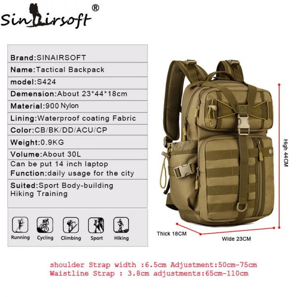 Outdoor Tactical Backpack 30L for Laptop 1