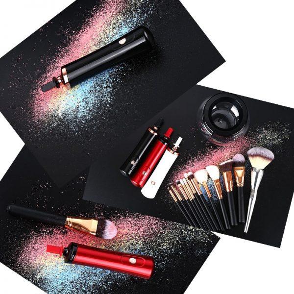 Electric Makeup Brush Cleaner & Dryer Set  4