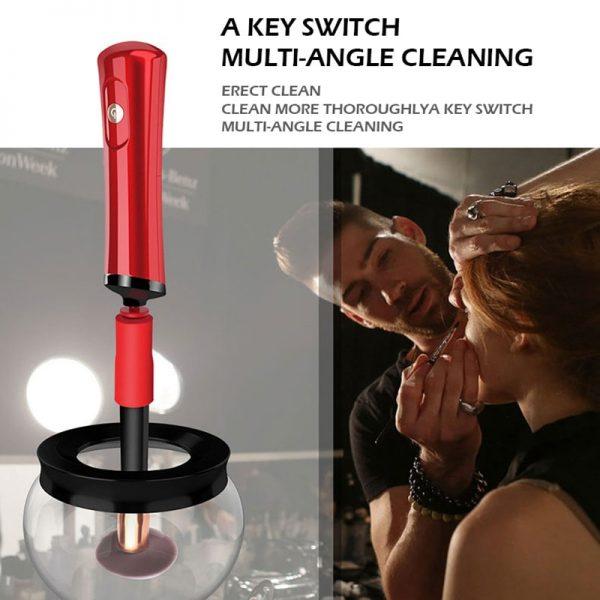 Electric Makeup Brush Cleaner & Dryer Set  1