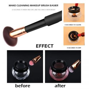Electric Makeup Brush Cleaner & Dryer Set  3